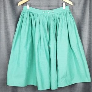 Collectif London green circle skirt size 8